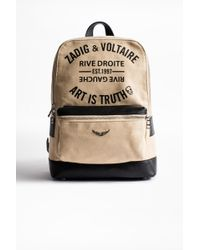 Zadig & Voltaire - Arizona Canvas Backpack - Lyst