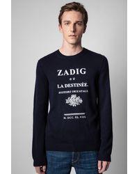 Zadig & Voltaire Jersey Kennedy Destinée - Azul