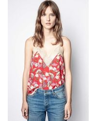 Zadig & Voltaire Christy Paisley Psyche Camisole - Red