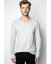 Zadig & Voltaire T-shirt Monastir - Gris
