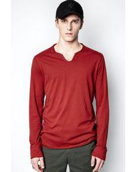 Zadig & Voltaire T-shirt Monastir - Rouge