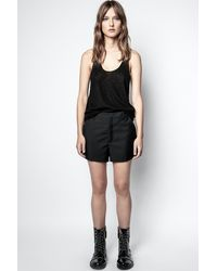 Zadig & Voltaire Pink Smocking Shorts - Black