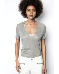 Zadig & Voltaire Tino Foil T-shirt - Grey