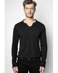 Zadig & Voltaire T-shirt Monastir - Noir