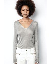 Zadig & Voltaire Foil T-shirt - Grey