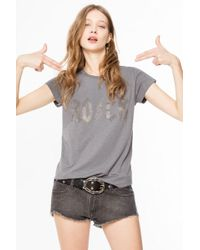 Zadig & Voltaire - Skinny Strass T-shirt - Lyst