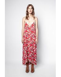 Zadig & Voltaire Risty Paisley Psyche Dress - Red