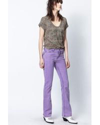 Zadig & Voltaire Eclipse Jeans - Purple