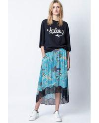 Zadig & Voltaire Joslin Glam Rock Skirt - Blue