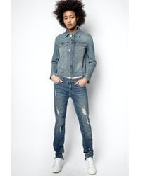 Zadig & Voltaire Eva Use Jeans - Blue