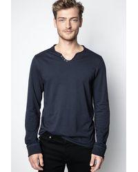 Zadig & Voltaire T-shirt Monastir - Bleu