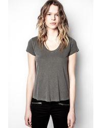 Zadig & Voltaire T-shirt Tiny Slub - Gris