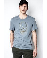 Zadig & Voltaire T-shirt Ted - Bleu