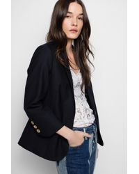 Zadig & Voltaire Veste Victoria Shiny Wool - Multicolore