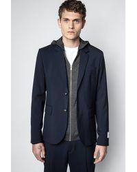 Zadig & Voltaire Veste Version Wool Encre - Taille 44 - Homme - Bleu