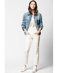 Zadig & Voltaire Klausi Dirty Jacket - Blue