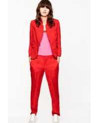 Zadig & Voltaire Prune Jac Paisley Trousers - Red