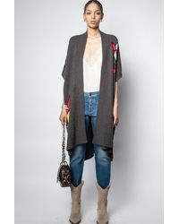 Zadig & Voltaire Indiana Star Poncho - Blue