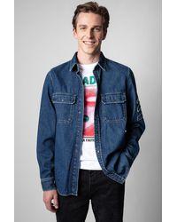 Zadig & Voltaire Camisa Stan Denim Arrow - Azul