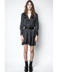 Zadig & Voltaire Reveal Satin Dress - Black