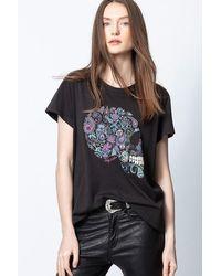 Zadig & Voltaire T-Shirt Redo Mandala Skull - Noir