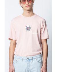 Zadig & Voltaire T-Shirt Tobias LA Clippers - Pink