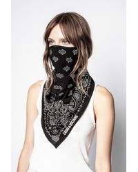 Zadig & Voltaire Foulard Bandana Mask - Black