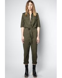 Zadig & Voltaire Catsy Mili Jumpsuit - Green