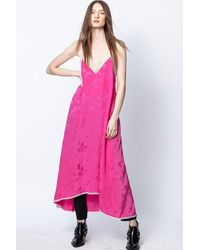 Zadig & Voltaire Robe Risty Jac Paisley - Rose
