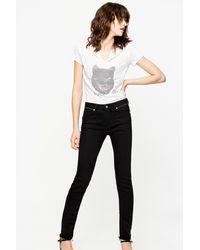 Zadig & Voltaire Eva Zip Jeans - Black