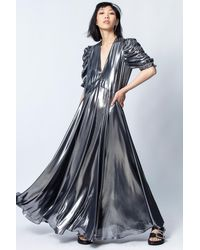 Zadig & Voltaire Roya Silver Dress - Blue