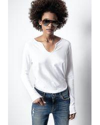 Zadig & Voltaire Tunisien strass - Blanc