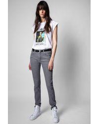 Zadig & Voltaire Camiseta Cecilia Photoprint Voltaire Strass - Blanco