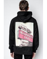 Zadig & Voltaire Sweatshirt Photoprint Paradise - Schwarz