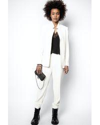Zadig & Voltaire Pantalon Panda Crepe - Blanc