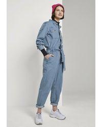 Tom Tailor Denim OVERALLS JEANS JUMPSUIT - Combinaison - Bleu