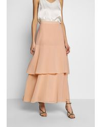 Dorothy Perkins BLUSH TIERED SKIRT - Jupe longue - Multicolore