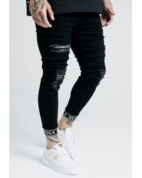 SIKSILK SKINNY CUFFED JEANS - Jeans Skinny Fit - Schwarz
