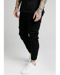 SIKSILK CUFFED - Jeans Skinny Fit - Schwarz