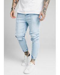 SIKSILK CUFFED - Jeans Skinny Fit - Blau