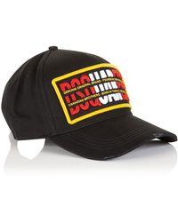 DSquared² 'genuine Origianl Brand' Logo Baseball Cap - Black