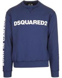 DSquared² Logo Print Sweatshirt - Blue