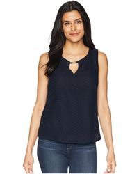 Ellen Tracy - Sleeveless Eyelet Lace Blouse - Lyst