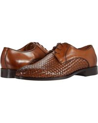 Massimo Matteo 3i Woven Oxford Shoes - Brown