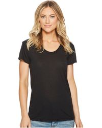 Alternative Apparel Kimber Slinky Jersey Short Sleeve Tee - Black