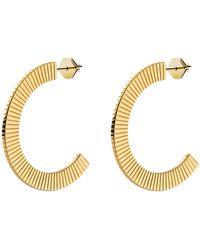 Miansai Celeste Hoops Earrings - Metallic