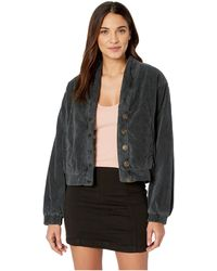 Free People - Main Squeeze Jacket (black) Women's Coat - Lyst