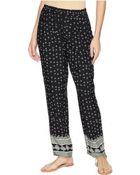 Two By Vince Camuto - Fan Geo Tie Waist Printed Pull-on Pants (rich Black) Women's Casual Pants - Lyst