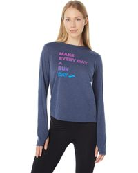 Brooks Distance Graphic Long Sleeve - Blue