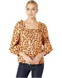 Kate Spade Panthera Square Neck Top - Multicolor